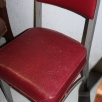 Vintage Metal Armless Guest Chair