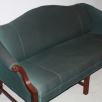 Patrician traditional camel back settee (3/4 view)