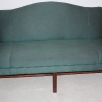 Patrician traditional camel back settee