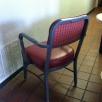 Vintage Metal guest chair (back)